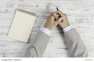Zuhören notieren nachdenken dann reden - Karriere