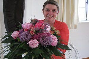 Ein Blumenstrauß zum Abschied nach dem Coaching - Coaching