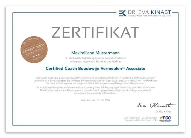 zertifikat-Certified Coach-Boudewijn Vermeule-associate